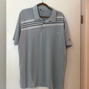 Adidas gray with stripe polo XL